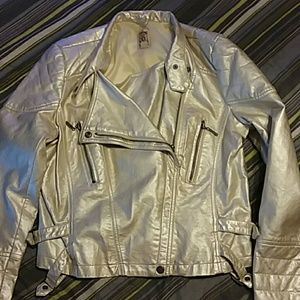 Silvery Gold Pleather Jacket